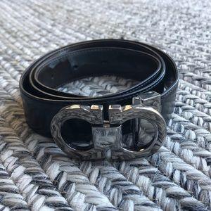Ferragamo Patent Leather belt buckle